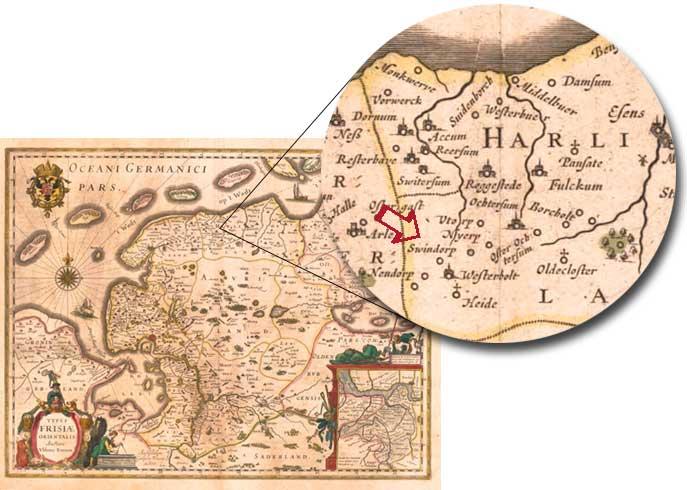 Landkarte von Ubbo Emmius