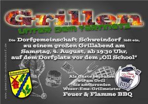 Grillen unter dem Tarnnetz @ Dorfgemeinschaftshaus Schweindorf | Schweindorf | Niedersachsen | Deutschland